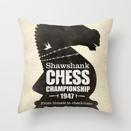 Shawshank Chess Championship Throw Pillow