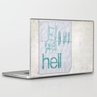 hell Laptop & iPad Skins featuring hell by Josh LaFayette