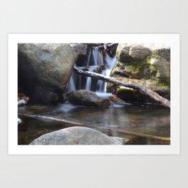 Small waterfall away from Cascade Falls Art Print