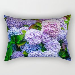 Purple Hydrangeas Rectangular Pillow