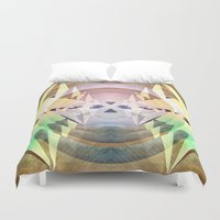 compass Duvet Covers featuring Compass by Capital Knight