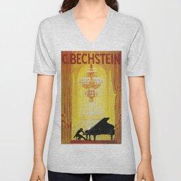 Vintage poster - C. Bechstein Unisex V-Neck
