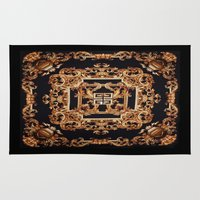 versace Area & Throw Rugs featuring Fancy Givenchy by Goldflakes