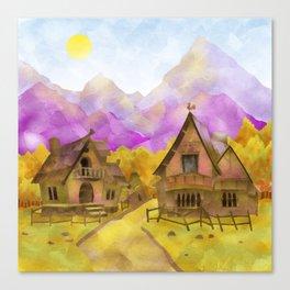 Mountain Village Canvas Print