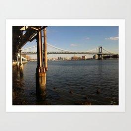 NYC East River | Manhattan Bridge Art Print
