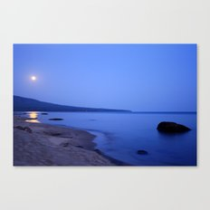 Moon Shimmering on Superior Canvas Print