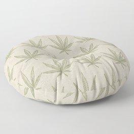 Weed Leaf Floor Pillow