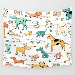 Dogs Dogs Dogs Wall Tapestry