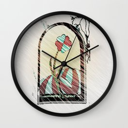 through window Wall Clock