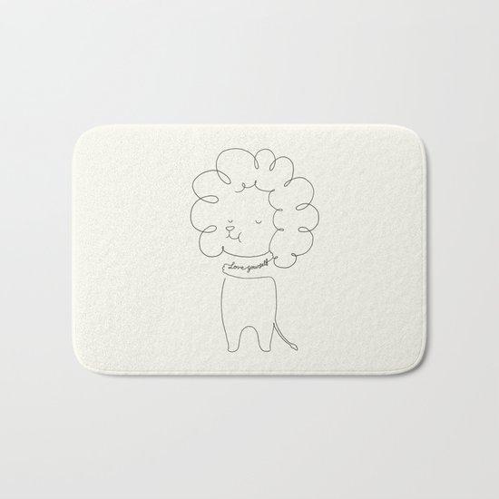 Love Yourself Lion Bath Mat