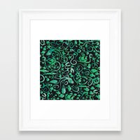 mermaids Framed Art Prints featuring Mermaids by hank