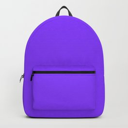 Simple Solid Color Aztech Purple All Over Print Backpack