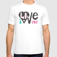 Love Note SMALL White Mens Fitted Tee