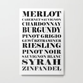 Wines, white  Metal Print