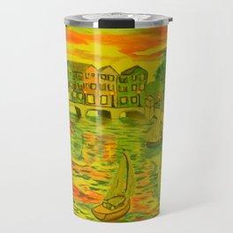 HarborSide Oil Painting Travel Mug