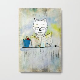 West Highland White Terrier ~ Westie ~ Sophisticated Wally ~ Ginkelmier Metal Print