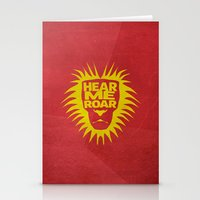 tyrion Stationery Cards featuring House Lannister - Hear Me Roar by Jack Howse