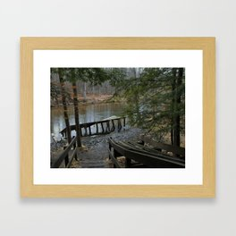 landscape, scenery, river, water, nature,  Framed Art Print