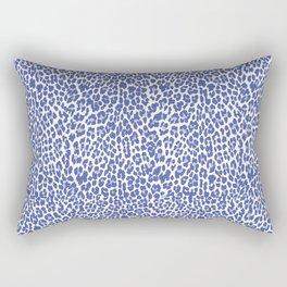 Blue Leopard Print Rectangular Pillow