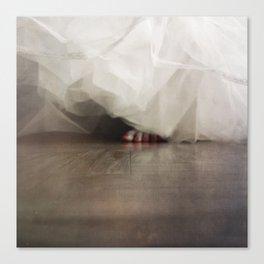 Peeking toes... Canvas Print