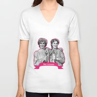 jessica lange V-neck T-shirts featuring Jessica Lange and Meryl Streep by BeeJL