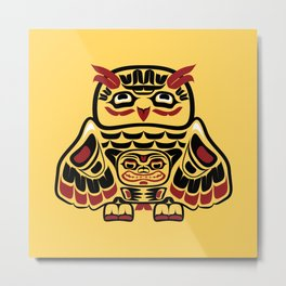 Owl, North-American art stylization Metal Print
