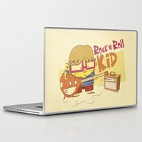 rock n roll Laptop & iPad Skins featuring Rock n Roll Kid by Ariel Fajtlowicz