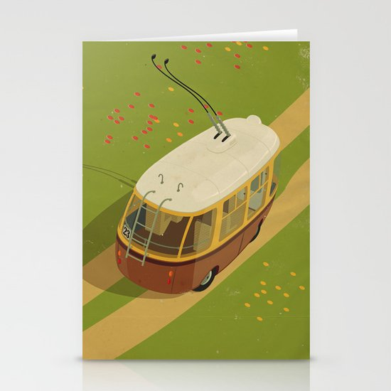 Trolley Rides The Field Stationery Cards