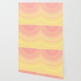 Pastel Millennial Pink Yellow Circle Ombre Gradient Pattern Wallpaper