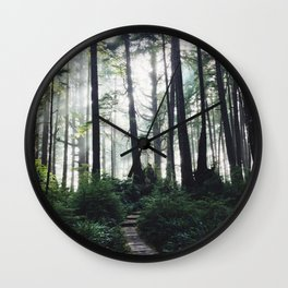 Hikes to the Beach Wall Clock