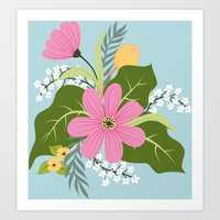 Blooming Colourful Composition Art Print