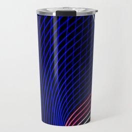 abstract blue lines Travel Mug