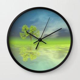 circular images on black -50- Wall Clock
