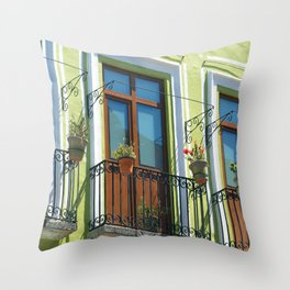 Balconies of Puebla  Throw Pillow
