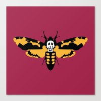 silence of the lambs Canvas Prints featuring The Silence of the Lambs by FilmsQuiz