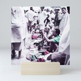The Salesman. Ethiopia 1960s Infrared art by Ahmet Asar Mini Art Print