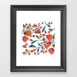 Buds and Flowers Framed Art Print