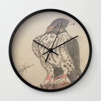 falcon Wall Clocks featuring FALCON by Shomos
