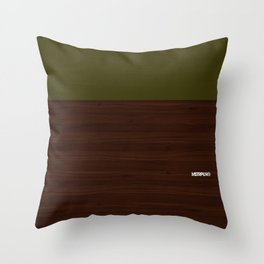 Modern Minimal Collection / Walnut Throw Pillow