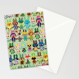 Rabbit Crossing Stationery Cards
