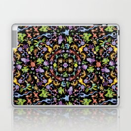 Terrific monsters posing for a colorful pattern design Laptop & iPad Skin