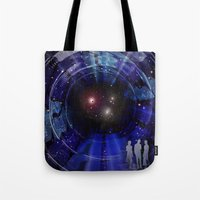 "stargate Tote Bags featuring Stargate to ""Gliese 562"" ! by capricorn"