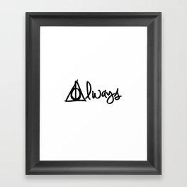 Always, Deathly Hallows, Harry Potter Framed Art Print