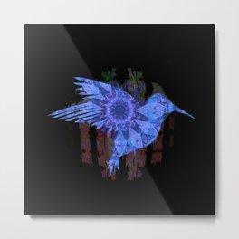 Ultra HDR Indigo Glow Hummingbird Print Metal Print