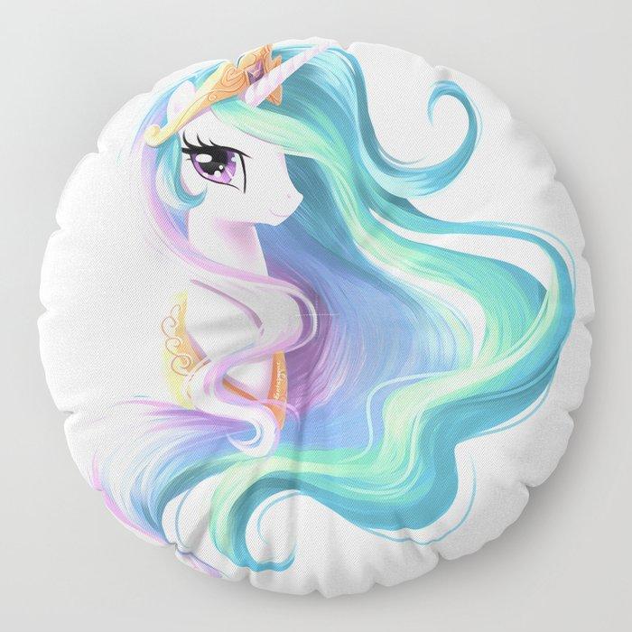Beautiful unicorn drawing Floor Pillow