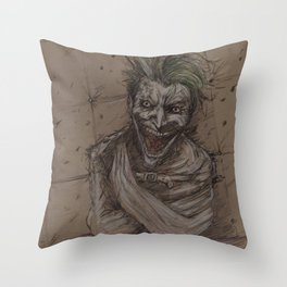 Face of Maddness Throw Pillow