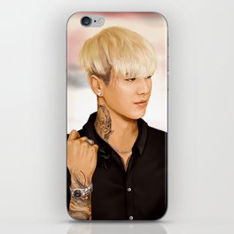 Tattooed Yugyeom (GOT7) - digital art iPhone Skin