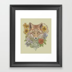 Fox Garden Framed Art Print