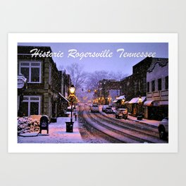 Historic Rogersville Tennessee In Winter Art Print