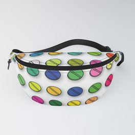 Multi-coloured Pills Pattern square Fanny Pack
